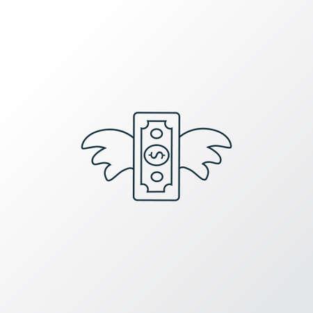 Venture capital icon line symbol. Premium quality isolated economy element in trendy style.