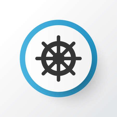 Símbolo de icono de volante. Elemento de timón aislado de primera calidad en estilo moderno.