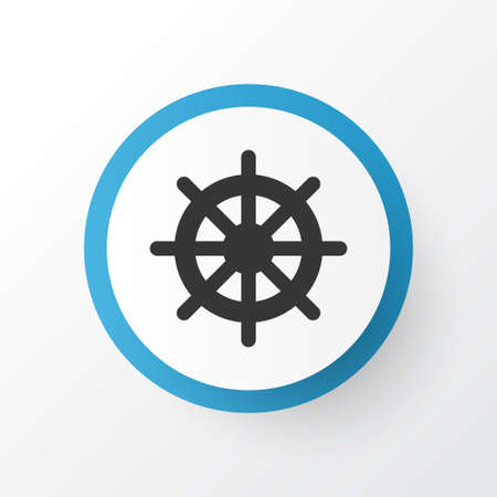 Handwheel icon symbol. Premium quality isolated helm element in trendy style.