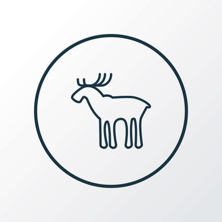 Elk icon line symbol. Premium quality isolated moose element in trendy style.