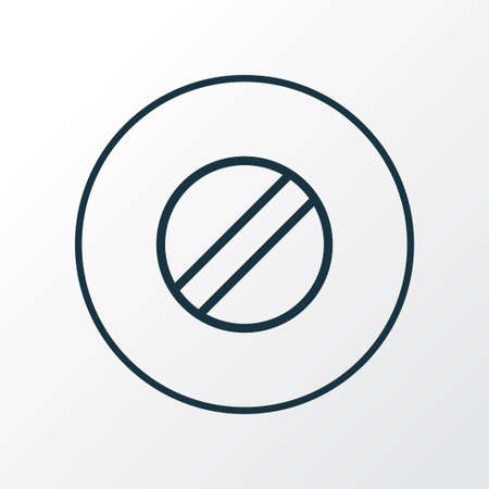 Disabled icon line symbol. Premium quality isolated ban element in trendy style.
