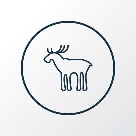 Elk icon line symbol. Premium quality isolated moose element in trendy style.