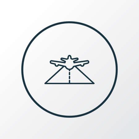 Plane highway icon line symbol. Premium quality isolated pathway element in trendy style.  イラスト・ベクター素材