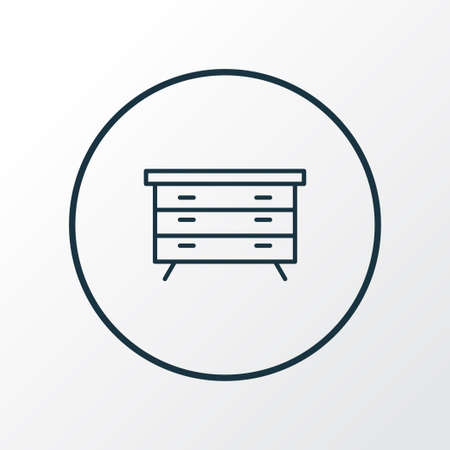 Dresser icon line symbol. Premium quality isolated sideboard element in trendy style.