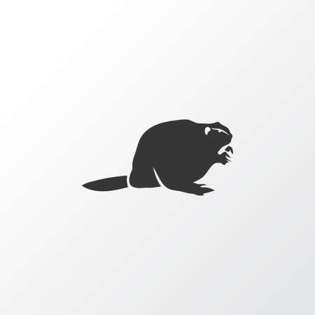 Symbole d'icône de castor. Élément de rat musqué isolé de qualité supérieure dans un style branché.