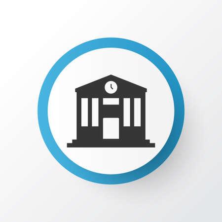 School icon symbol. Premium quality isolated college element in trendy style.