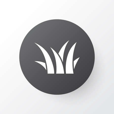 Grass icon symbol. Premium quality isolated sedge element in trendy style.