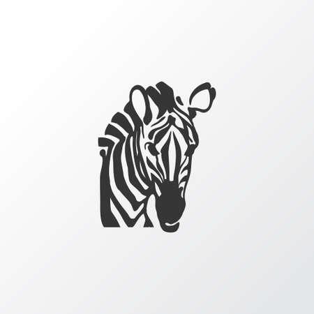 Zebra icon symbol. Premium quality isolated horse element in trendy style.