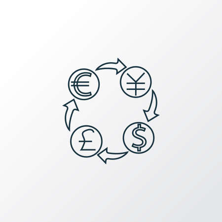 Currency conversion icon line symbol. Premium quality isolated exchange money element in trendy style.