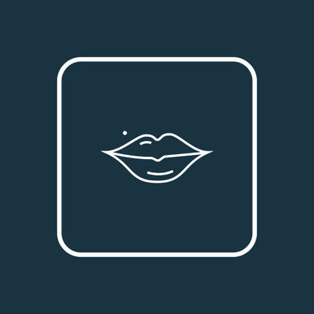 Lips icon line symbol. Premium quality isolated mouth element in trendy style.