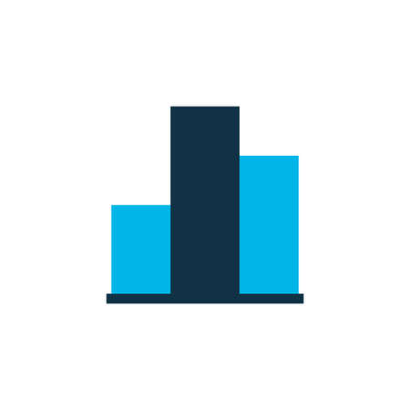 Columns graph icon colored symbol. Premium quality isolated bar chart element in trendy style.