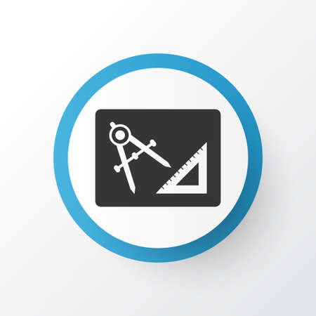 Drawing with adaption icon symbol  Premium quality isolated engineering