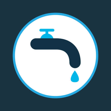Water crane icon colored symbol. Premium quality isolated tap element in trendy style.