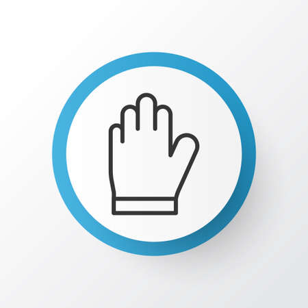 Garden gloves icon symbol. Premium quality isolated protection mitt element in trendy style.
