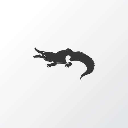 Crocodile icon symbol. Premium quality isolated alligator element in trendy style.