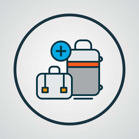 Extra baggage icon colored line symbol. Premium quality isolated luggage element in trendy style.