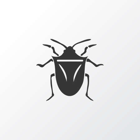 Bug icon symbol. Premium quality isolated cockroach element in trendy style.