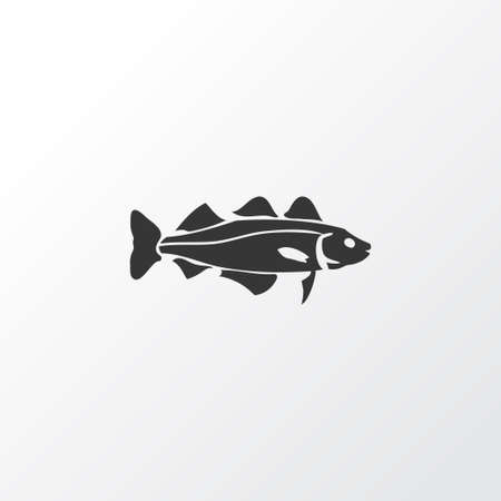 Cod fish icon symbol. Premium quality isolated trout element in trendy style.