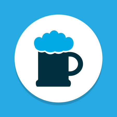 Beer icon colored symbol. Premium quality isolated ale mug element in trendy style. Illustration