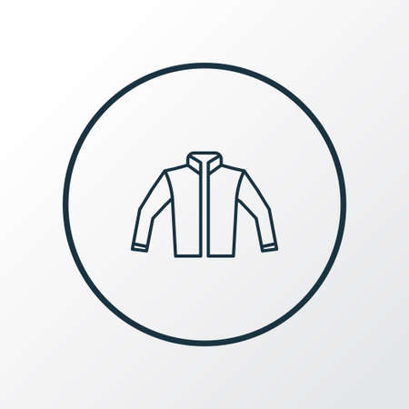 Jacket icon line symbol. Premium quality isolated cardigan element in trendy style. 矢量图像