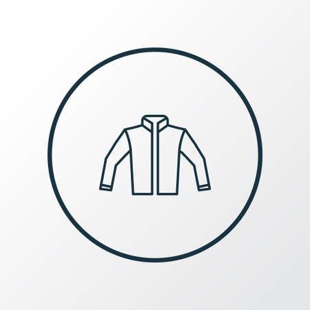 Jacket icon line symbol. Premium quality isolated cardigan element in trendy style. Illustration