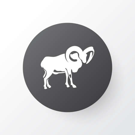 Ovis icon symbol. Premium quality isolated ram element in trendy style. 矢量图像