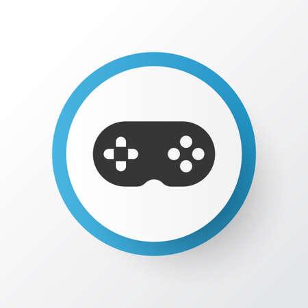Joystick icon symbol. Premium quality isolated gamepad element in trendy style. Illustration