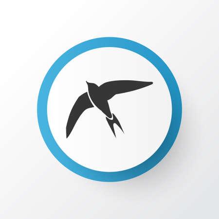 Symbole d'icône rapide. Élément d'hirondelle isolé de qualité supérieure dans un style branché.