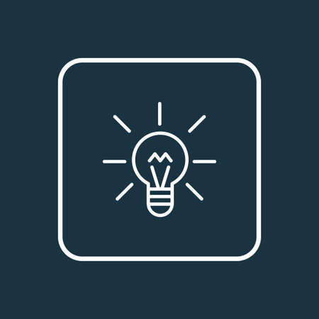 Lightbulb icon line symbol. Premium quality isolated energy element in trendy style.