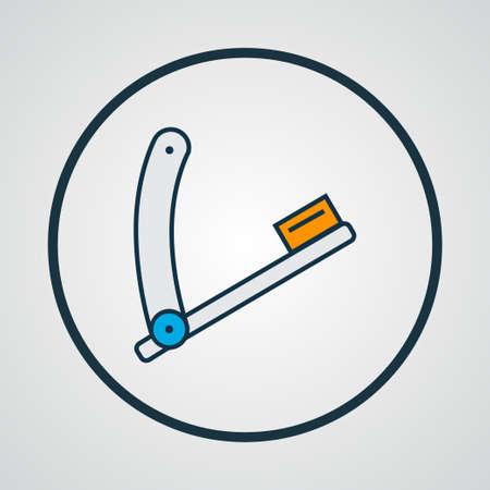 Razor blade icon colored line symbol. Premium quality isolated straight sharp element in trendy style. Ilustração