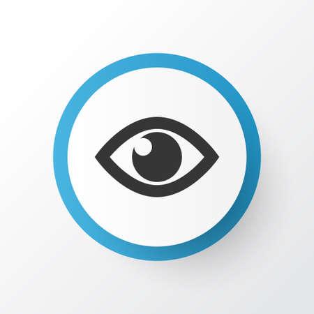 Mostra il simbolo dell'icona. Elemento occhio isolato di qualità premium in stile alla moda.