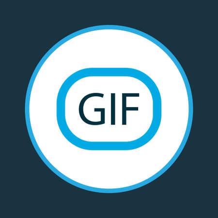 Gif sticker icon colored symbol. Premium quality isolated animation element in trendy style.