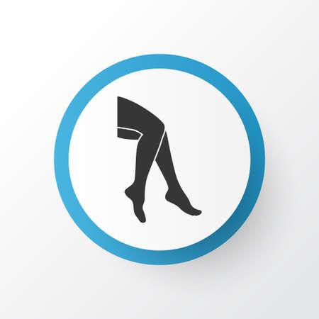 Leg icon symbol. Premium quality isolated foot element in trendy style.