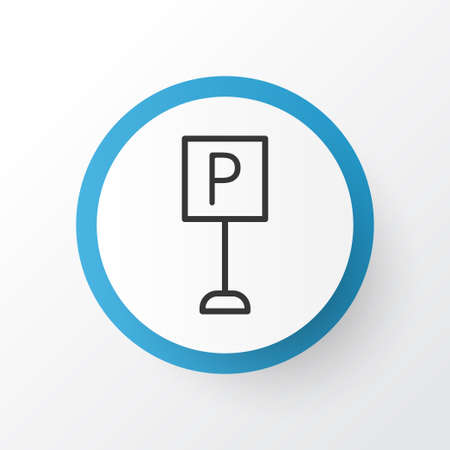 Parking sign icon symbol. Premium quality isolated roadsign element in trendy style.