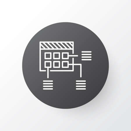 Project planning icon symbol. Premium quality isolated schedule element in trendy style. Banque d'images - 125795867
