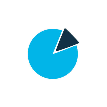 Circle graph icon colored symbol. Premium quality isolated pie chart element in trendy style. Stock Photo