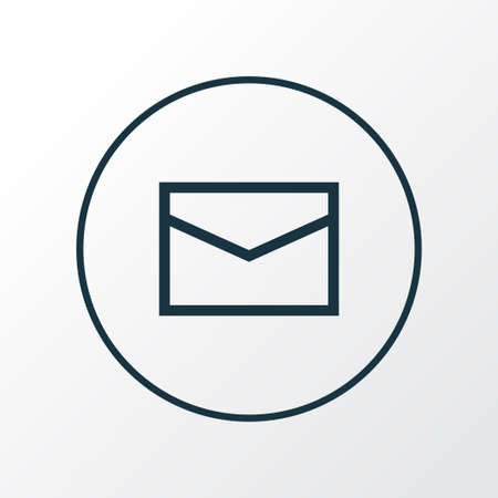 Envelope icon line symbol. Premium quality isolated mail element in trendy style.