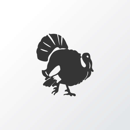 Turkey icon symbol. Premium quality isolated poultry element in trendy style.