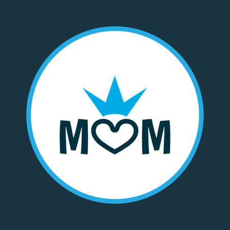Mum icon colored symbol. Premium quality isolated queen element in trendy style.