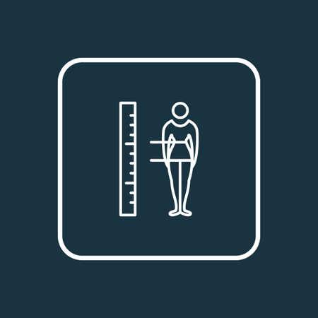 Body measurement icon line symbol. Premium quality isolated figure element in trendy style. 向量圖像