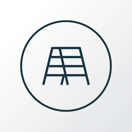 Stair icon line symbol. Premium quality isolated stepladder element in trendy style.