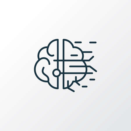 Artificial intelligence icon line symbol. Premium quality isolated AI element in trendy style. Иллюстрация