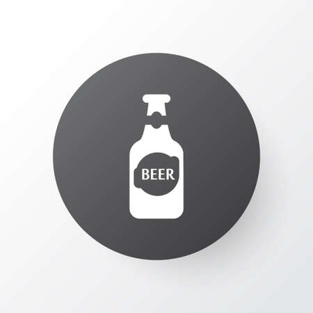 Bottle of beer icon symbol. Premium quality isolated alcohol element in trendy style.
