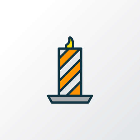 Paraffin icon colored line symbol. Premium quality isolated candle element in trendy style.