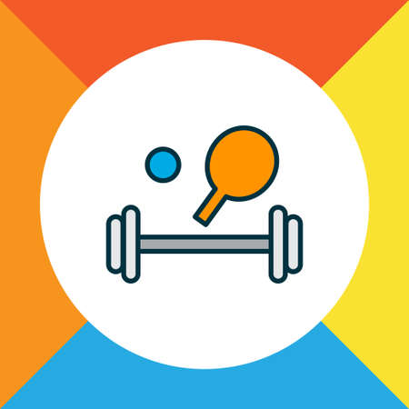 Sport equipment icon colored line symbol. Premium quality isolated fitness element in trendy style.