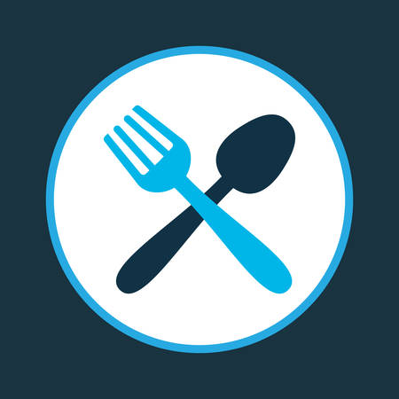 Food icon colored symbol. Premium quality isolated restaurant element in trendy style.