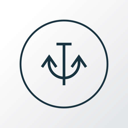 Armature icon line symbol. Premium quality isolated anchor element in trendy style.  イラスト・ベクター素材