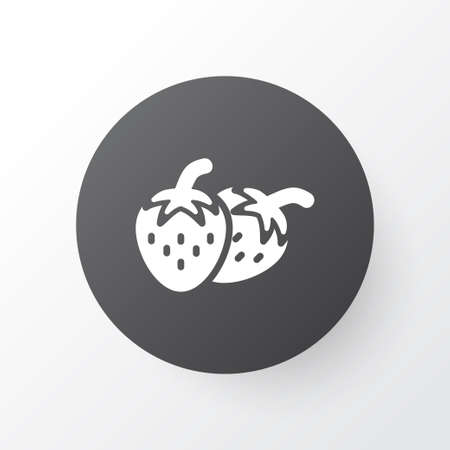 Fruit icon symbol. Premium quality isolated strawberries element in trendy style.