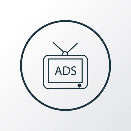 Advertising icon line symbol. Premium quality isolated tv element in trendy style. Ilustração