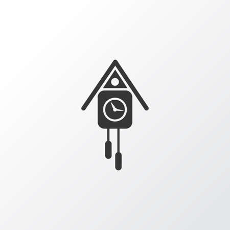 Cuckoo clock icon symbol. Premium quality isolated wall watch element in trendy style.